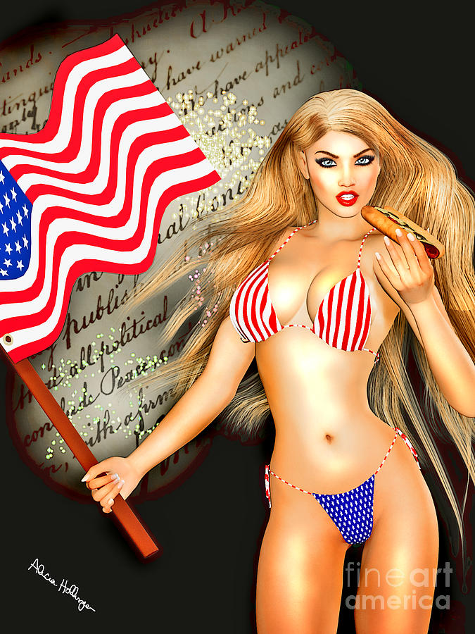 All American Girl - Independence Day Mixed Media