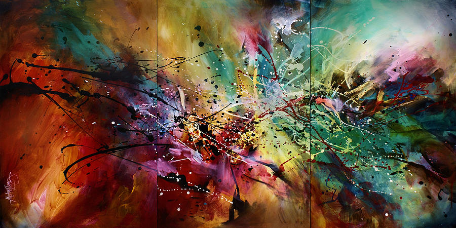 Abstract Art Painting - all At Once by Michael Lang