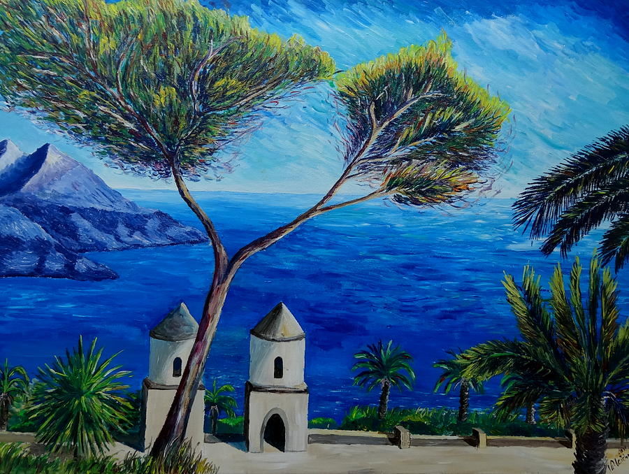 All Blue On Amalfi Coast Italy Painting