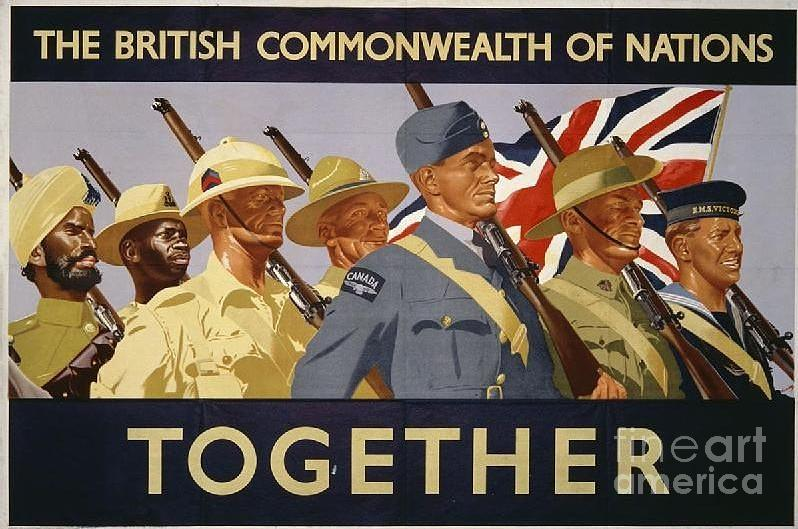 World War Ii Posters From The United Kingdom    William Little Photograph - All The Commonwealth Countries Unite. by Paul Fearn
