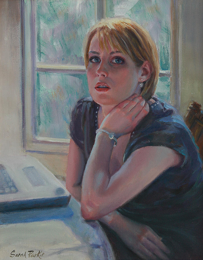 Figurative Painting - All Twittered Out by Sarah Parks