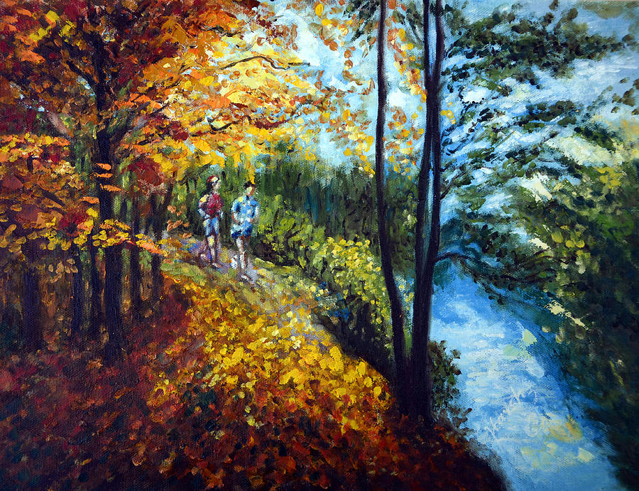 Alley By The Lake 1 Painting