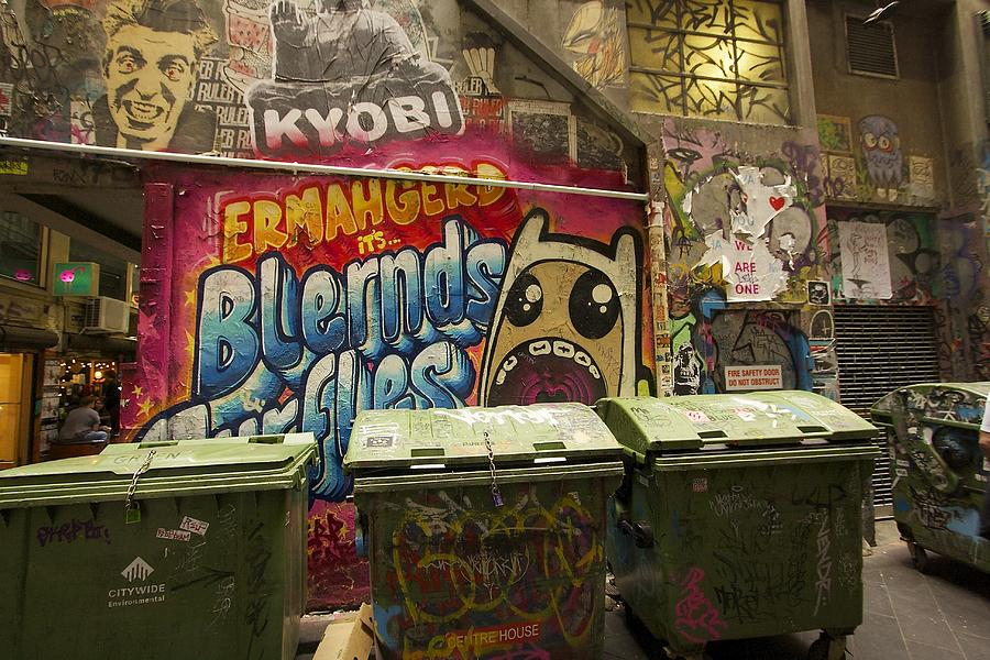 Australia Photograph - Alley Graffiti by Stuart Litoff