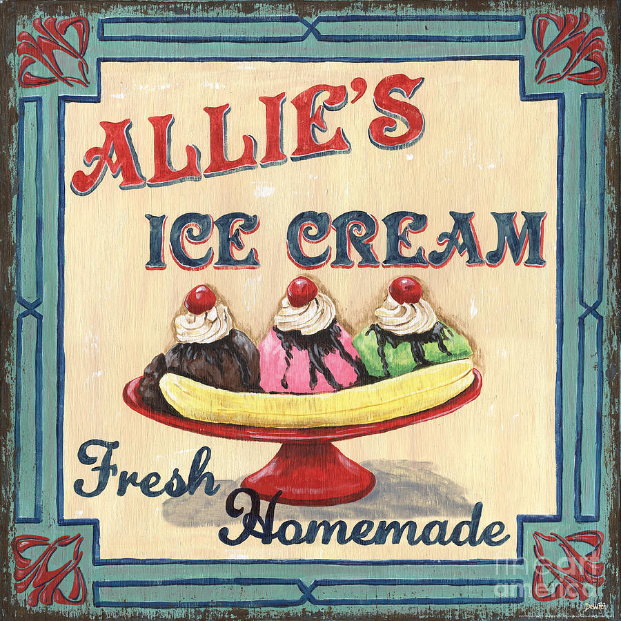 Allies Ice Cream Painting  - Allies Ice Cream Fine Art Print