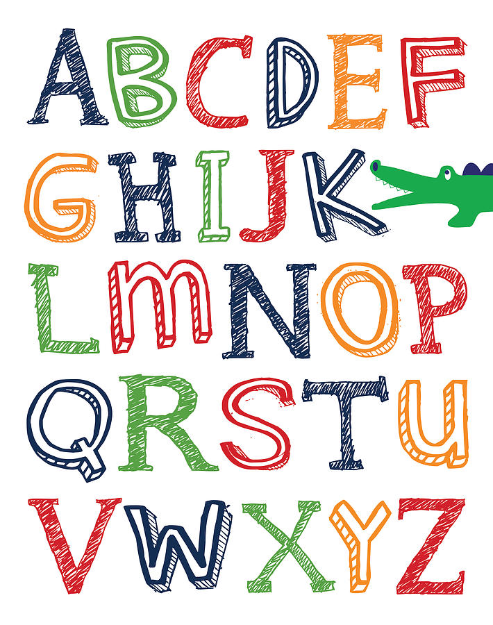 Alligator Abc Poster is a piece of digital artwork by Jaime Friedman ...