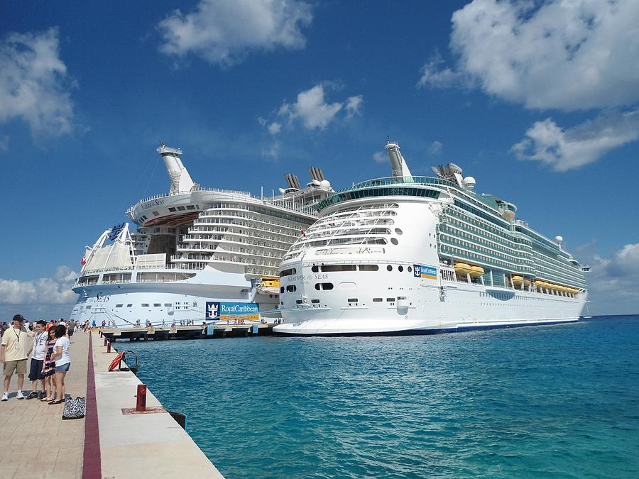 Allure of the seas and mariner of the seas dock view photograph by duayne furgason - The allure of the modular home ...