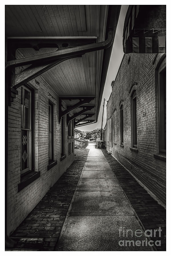 Alley To The Trains Photograph
