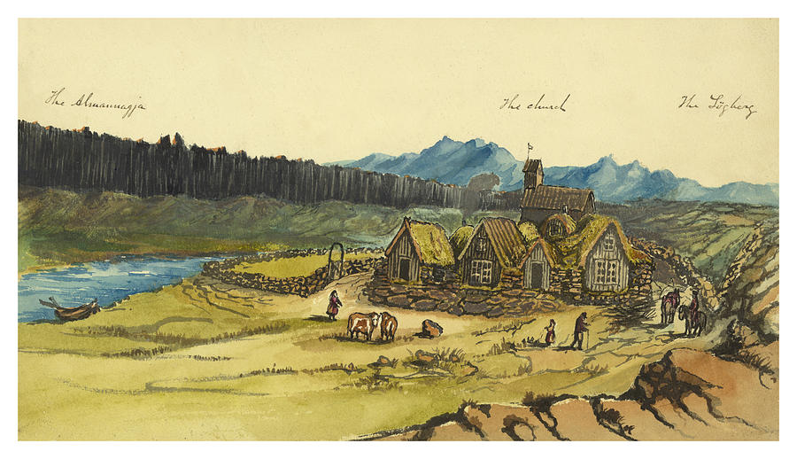 Almanna Gorge Circa 1862 Painting