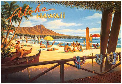 Hawaii Painting - Aloha Hawaii by Vintage