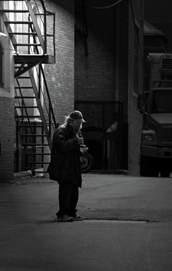 Alone In The Streets Photograph