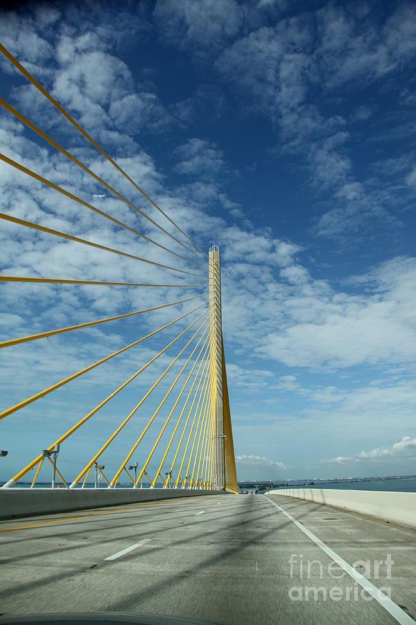 Alone On The Skyway Bridge - Florida Photograph