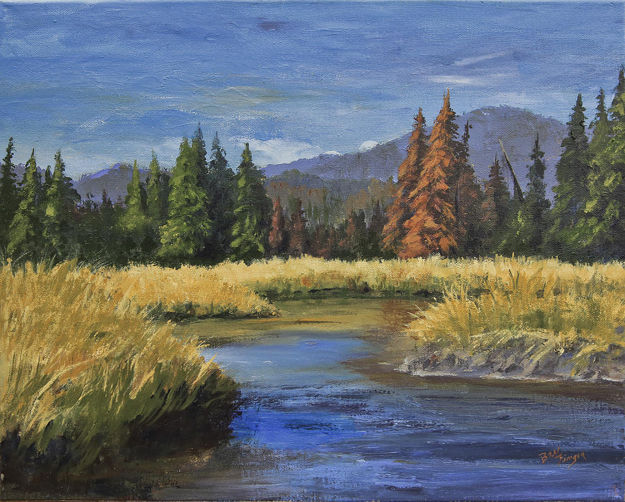 Colorado Landscape Painting - Along The Big Thompson by Bev Finger