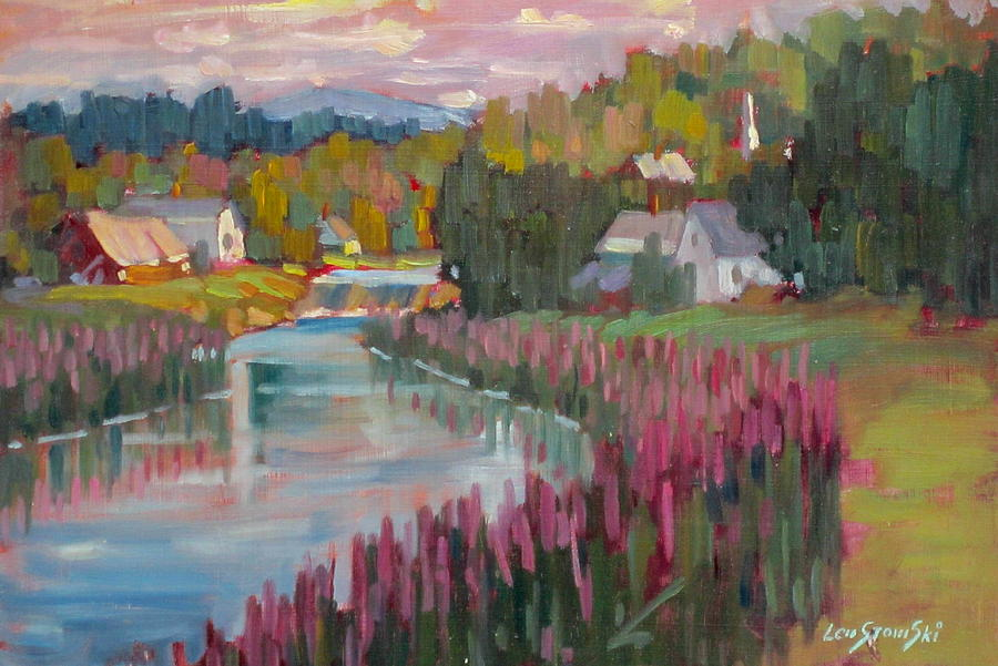 Along The Housatonic Painting  - Along The Housatonic Fine Art Print