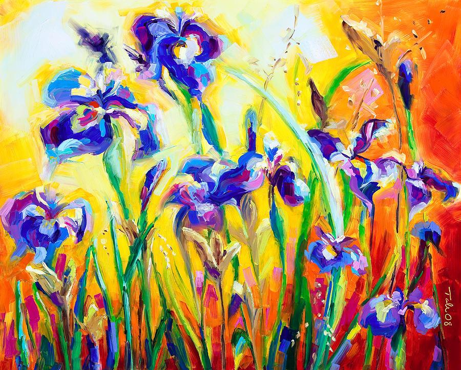 Irises Painting - Alpha And Omega by Talya Johnson