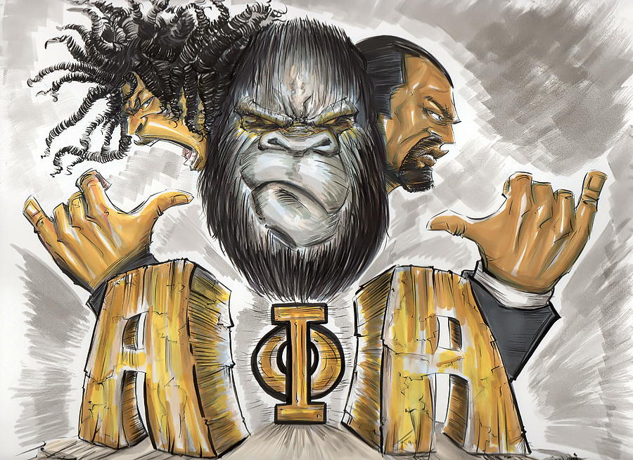 Alpha Phi Alpha Fraternity Inc Drawing  - Alpha Phi Alpha Fraternity Inc Fine Art Print