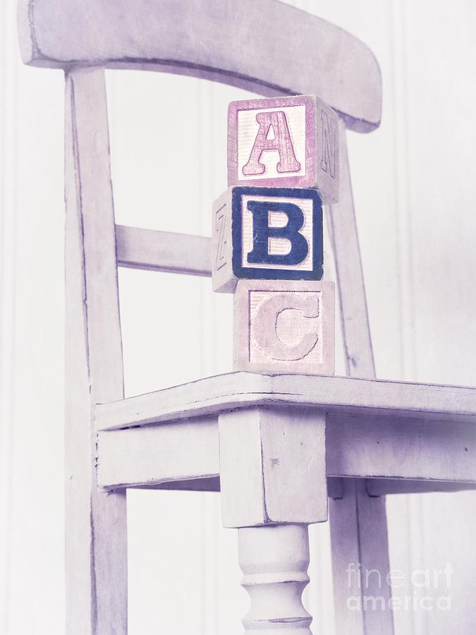 Alphabet Blocks Chair Photograph