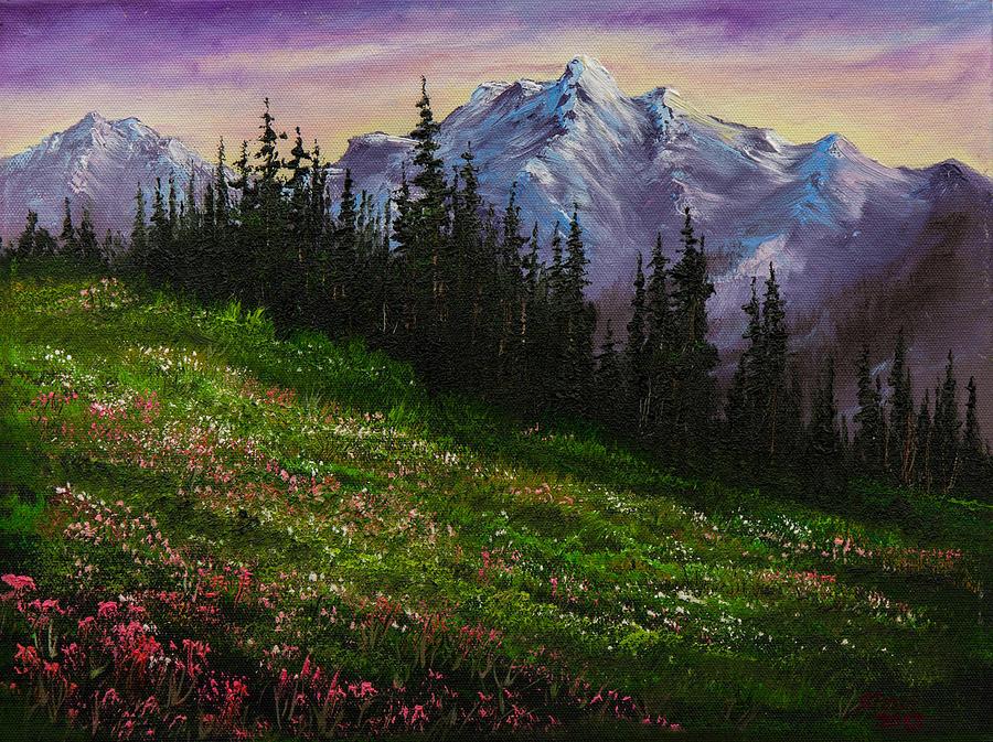 Alpine Meadow Painting