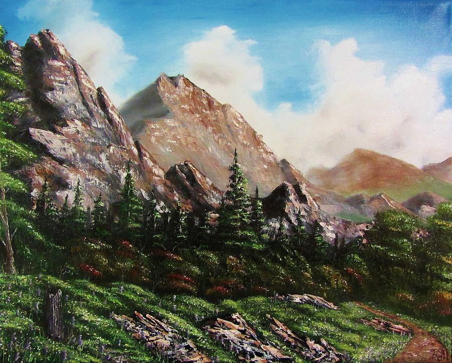 Alpine Vista Painting