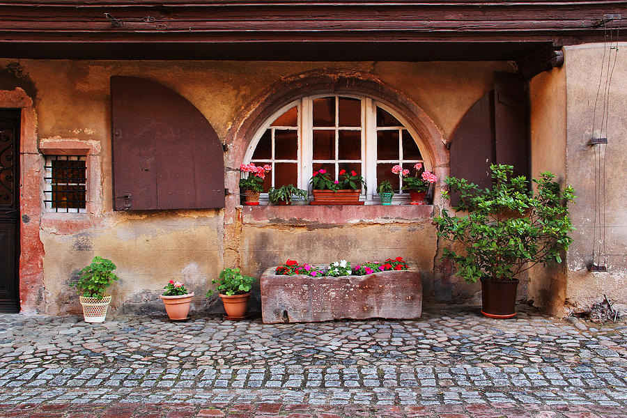 Alsatian Home In Kaysersberg France Photograph