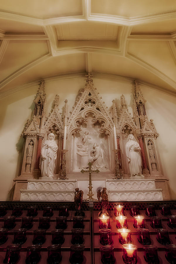 Saint Patricks Cathedral Photograph - Altar by Susan Candelario