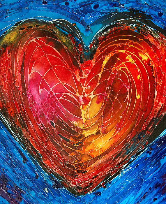 Heart Painting - Always by Sharon Cummings