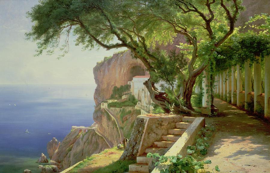 Amalfi Painting - Amalfi by Carl Frederick Aagaard
