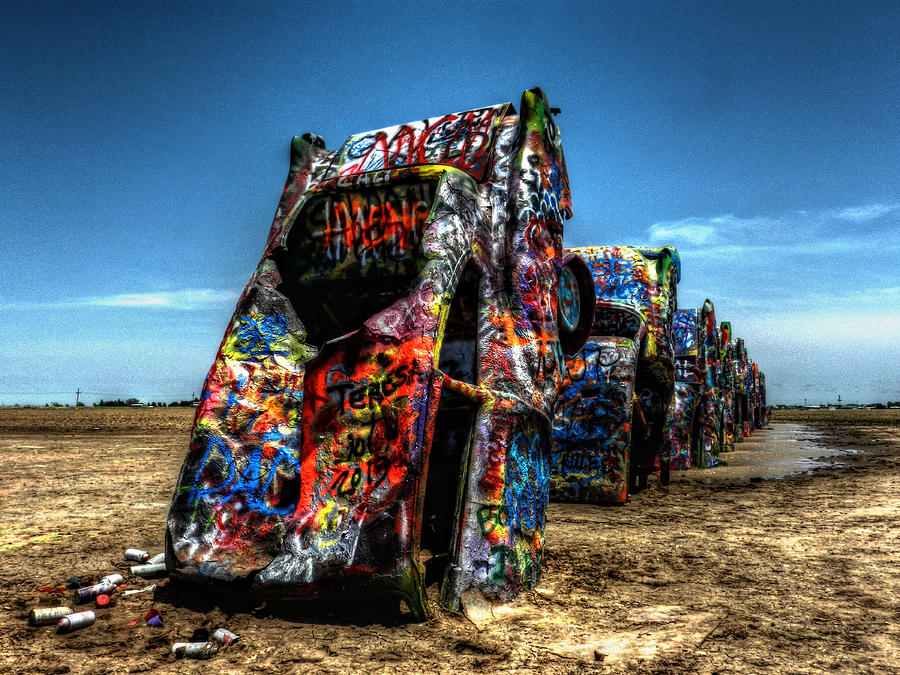Amarillo Texas Photograph - Amarillo - Cadillac Ranch 004 by Lance Vaughn