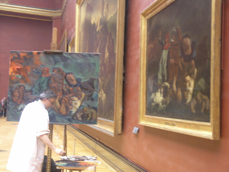 Amateur Artist At The Louvre Photograph