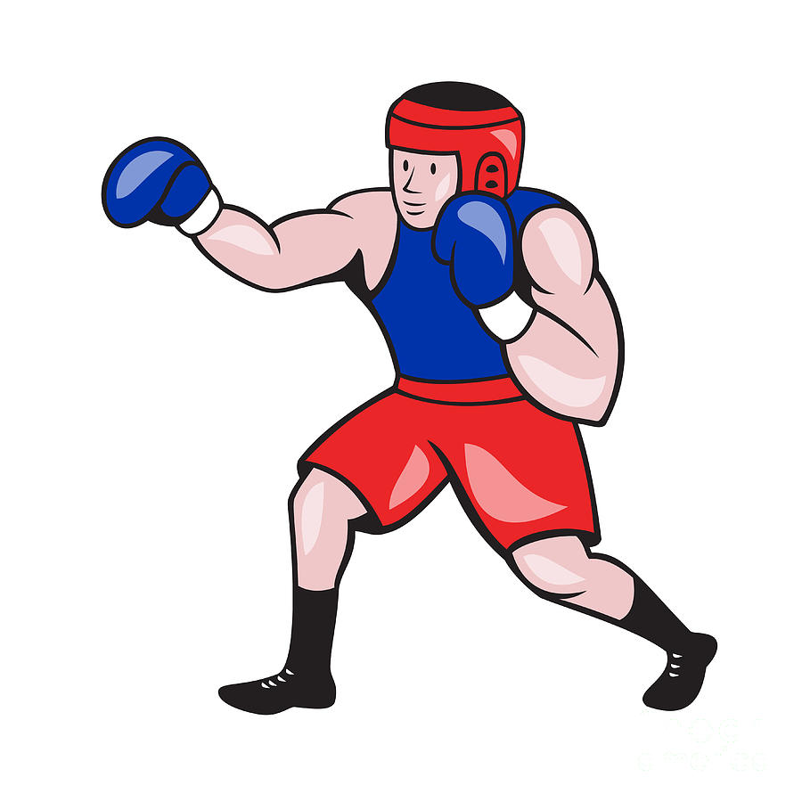 Amateur Boxer Boxing Cartoon Digital Art