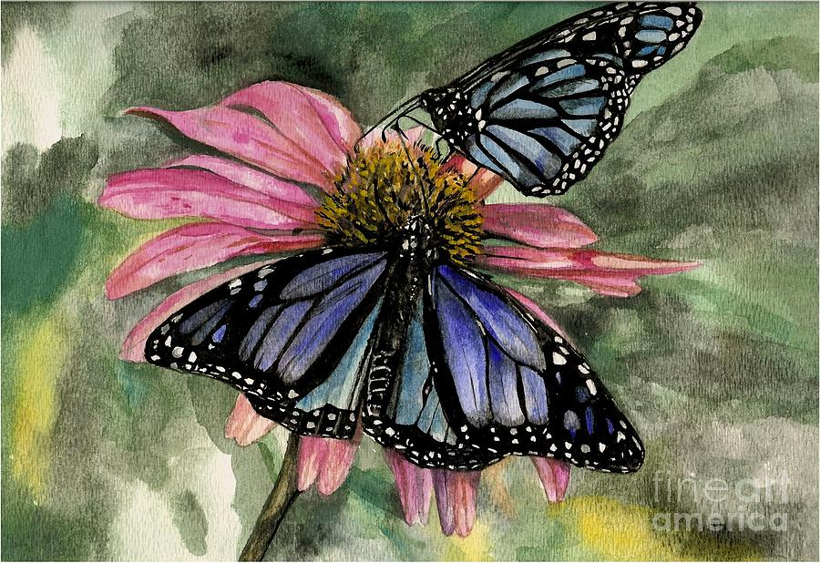 Butterflies Painting - Amazing by Laneea Tolley