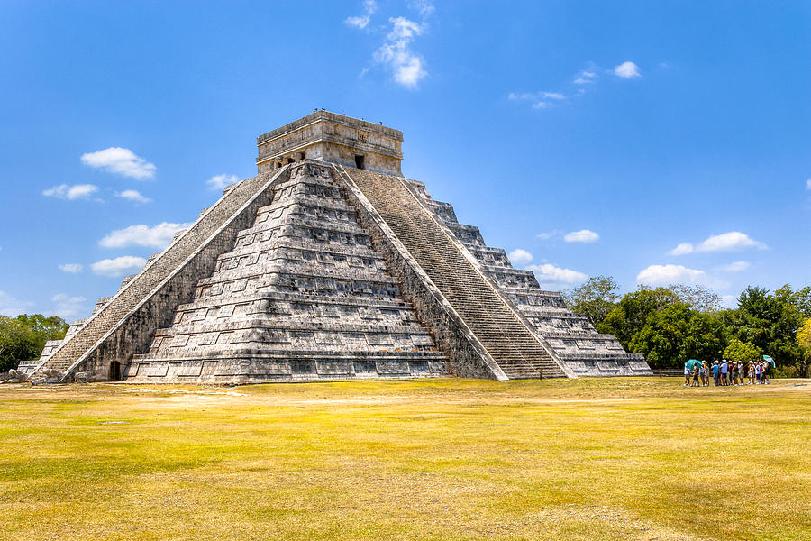 Amazing Mayan Pyramid At Chichen Itza Photograph  - Amazing Mayan Pyramid At Chichen Itza Fine Art Print