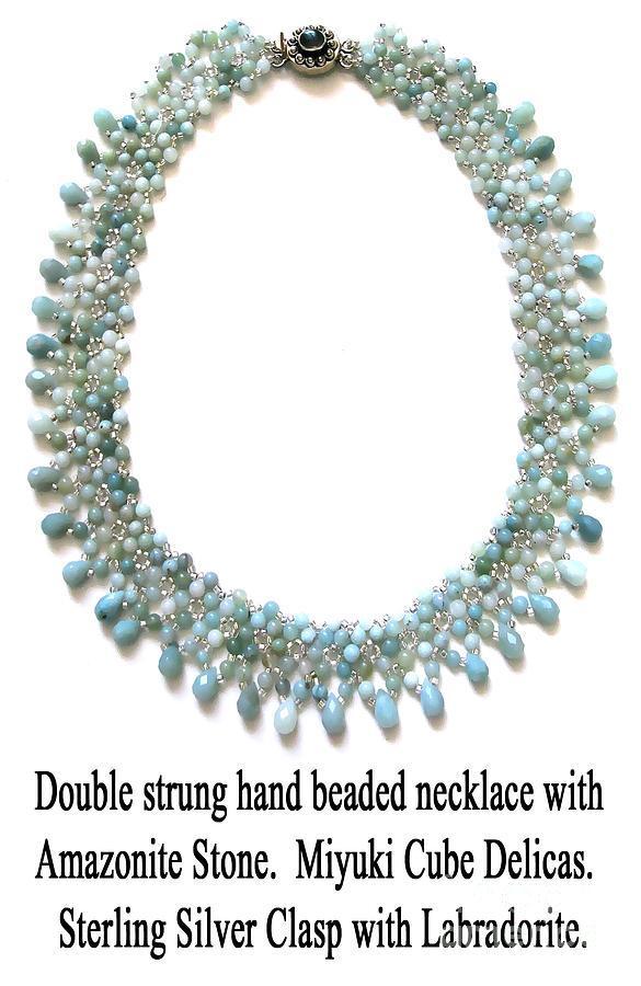 Amazonite Stone Beaded Necklace Jewelry