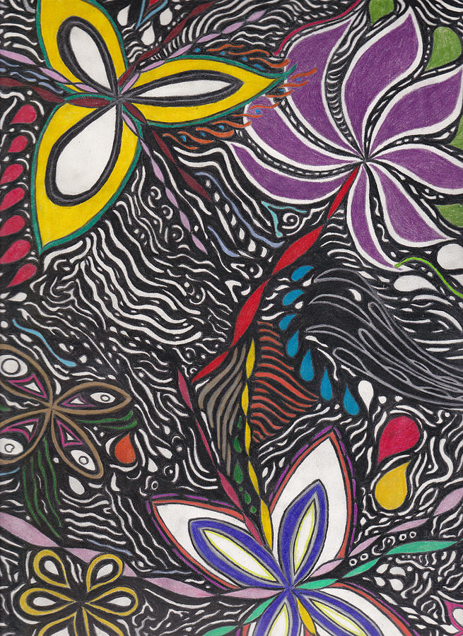 Abstract Drawing - Ambitions Flight by Laurie Gibson