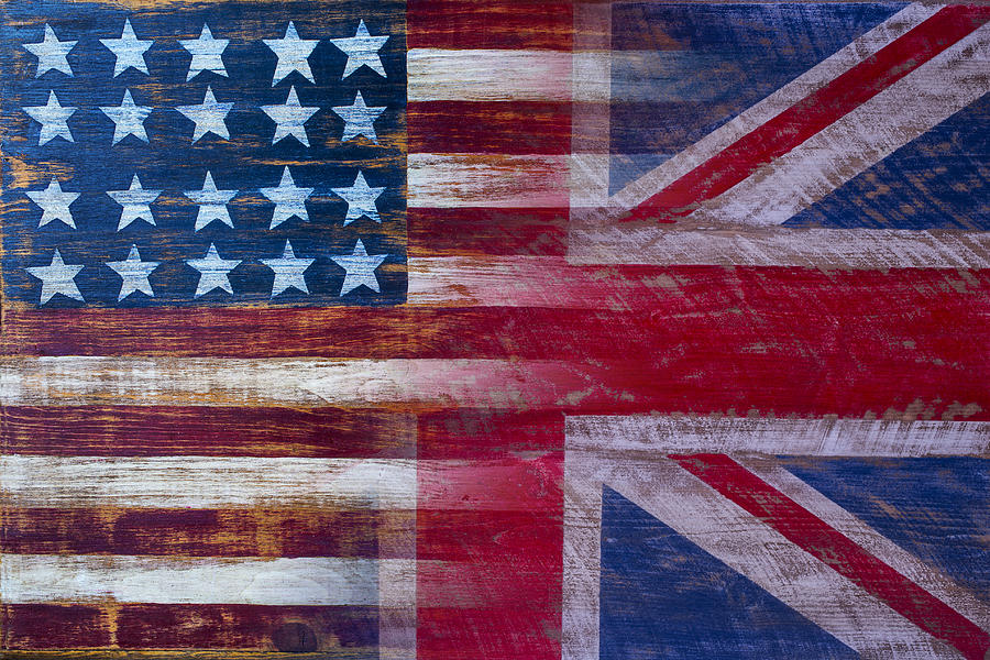 American British Flag Photograph