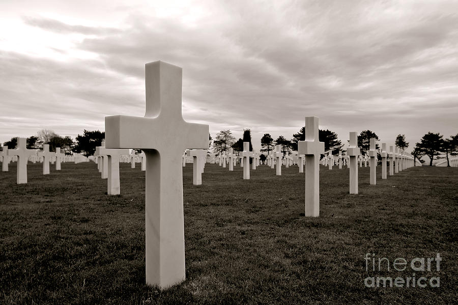 France Photograph - American Cemetery In Normandy  by Olivier Le Queinec