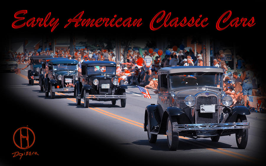 American Classic Cars Poster Print Photograph
