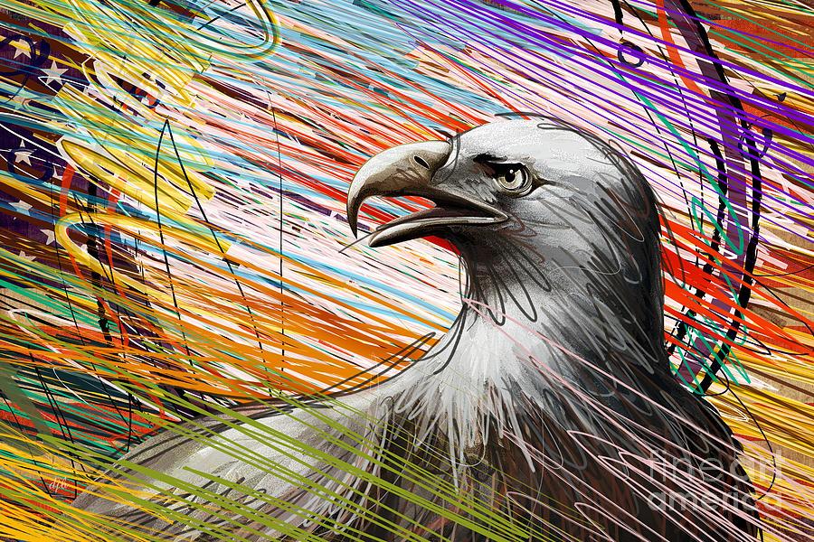 Eagle Digital Art - American Eagle by Bedros Awak