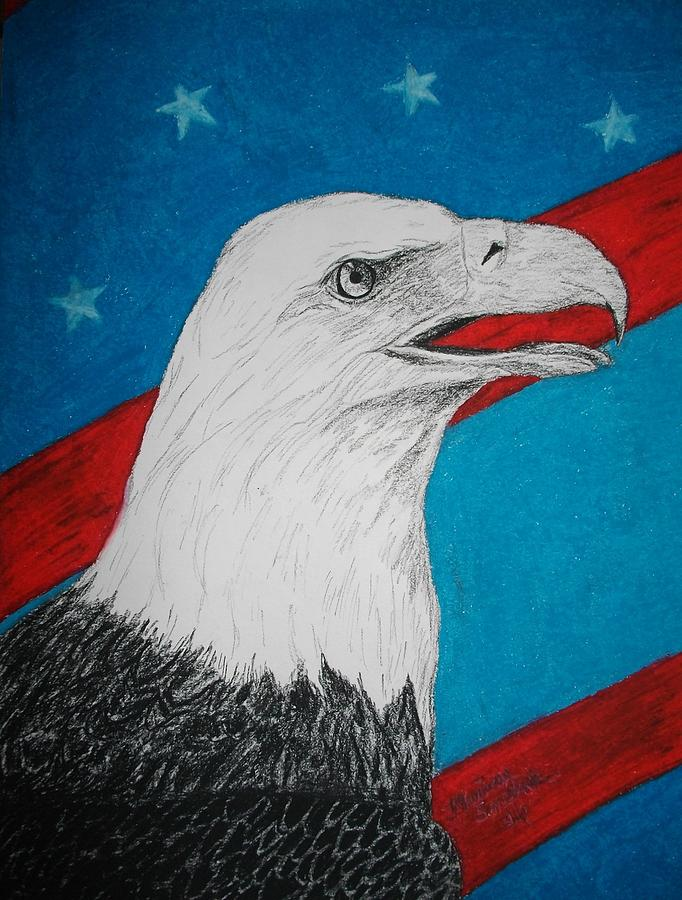 American Eagle Mixed Media  - American Eagle Fine Art Print