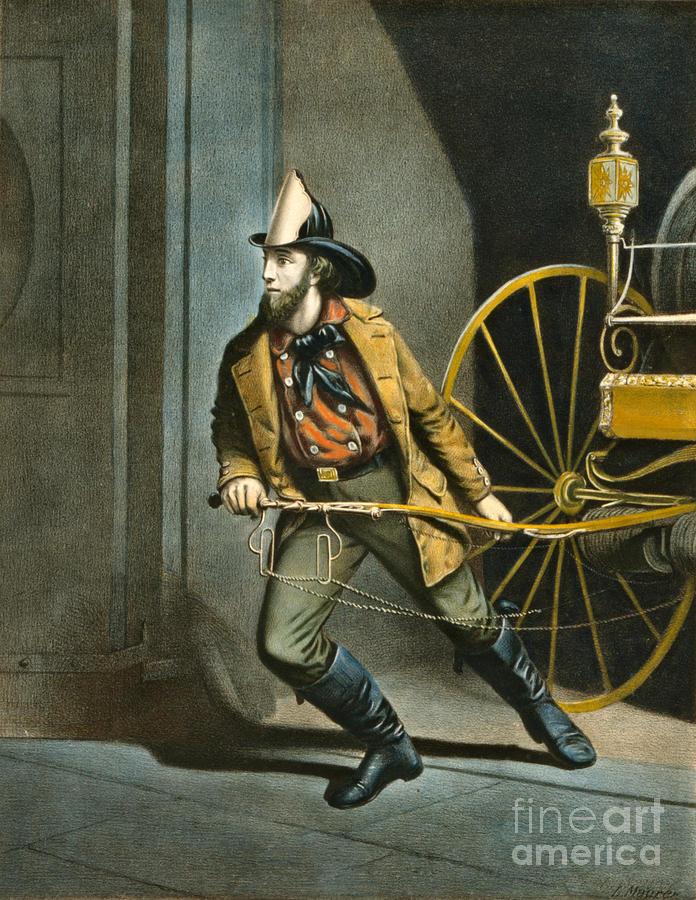 American Fireman 1858 Photograph