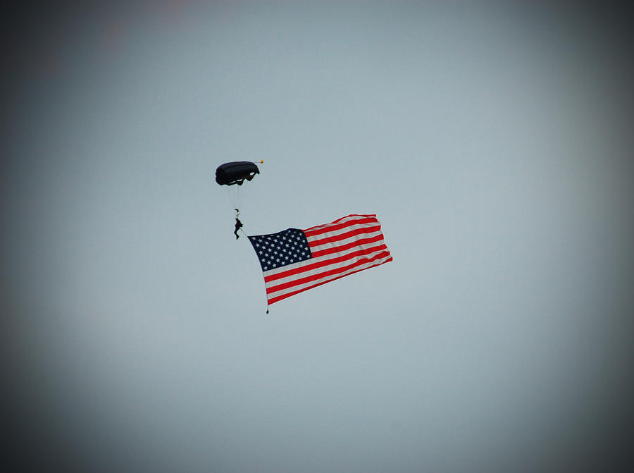 American Flag In The Sky Photograph