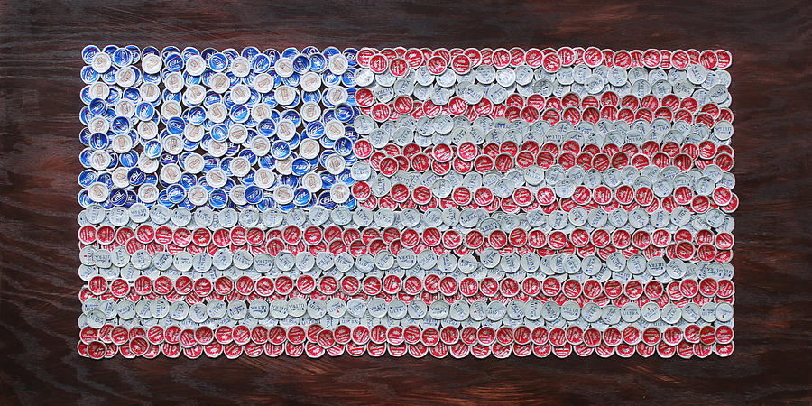 American Flag Mixed Media
