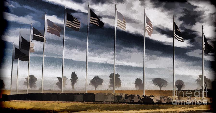 American Flag Still Standing Photograph