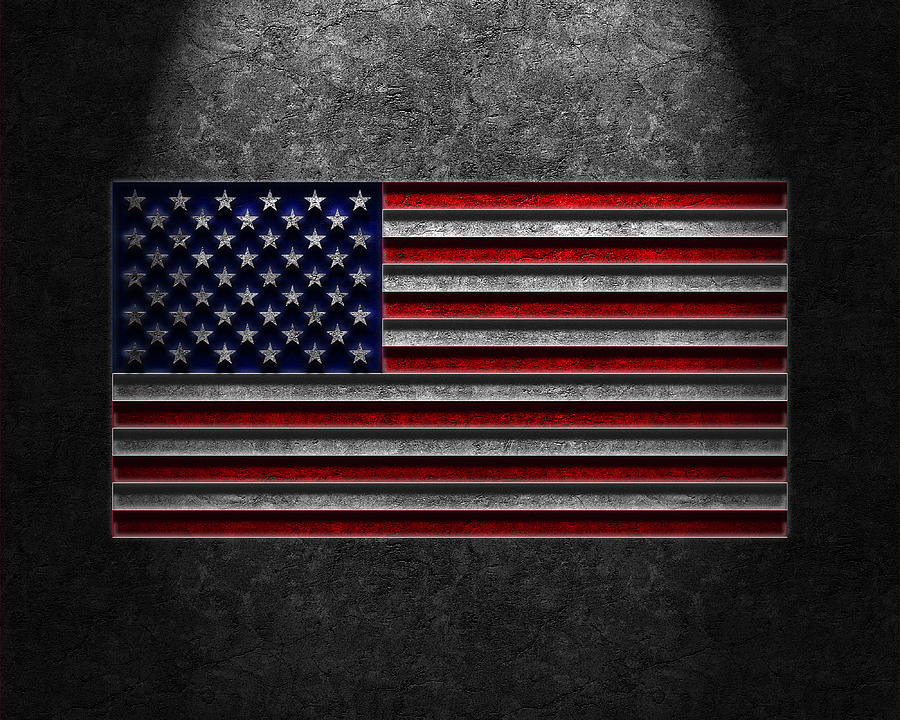 American Flag Stone Texture Digital Art