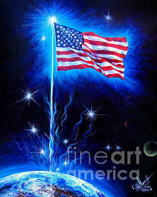 American Flag. The Star Spangled Banner Painting