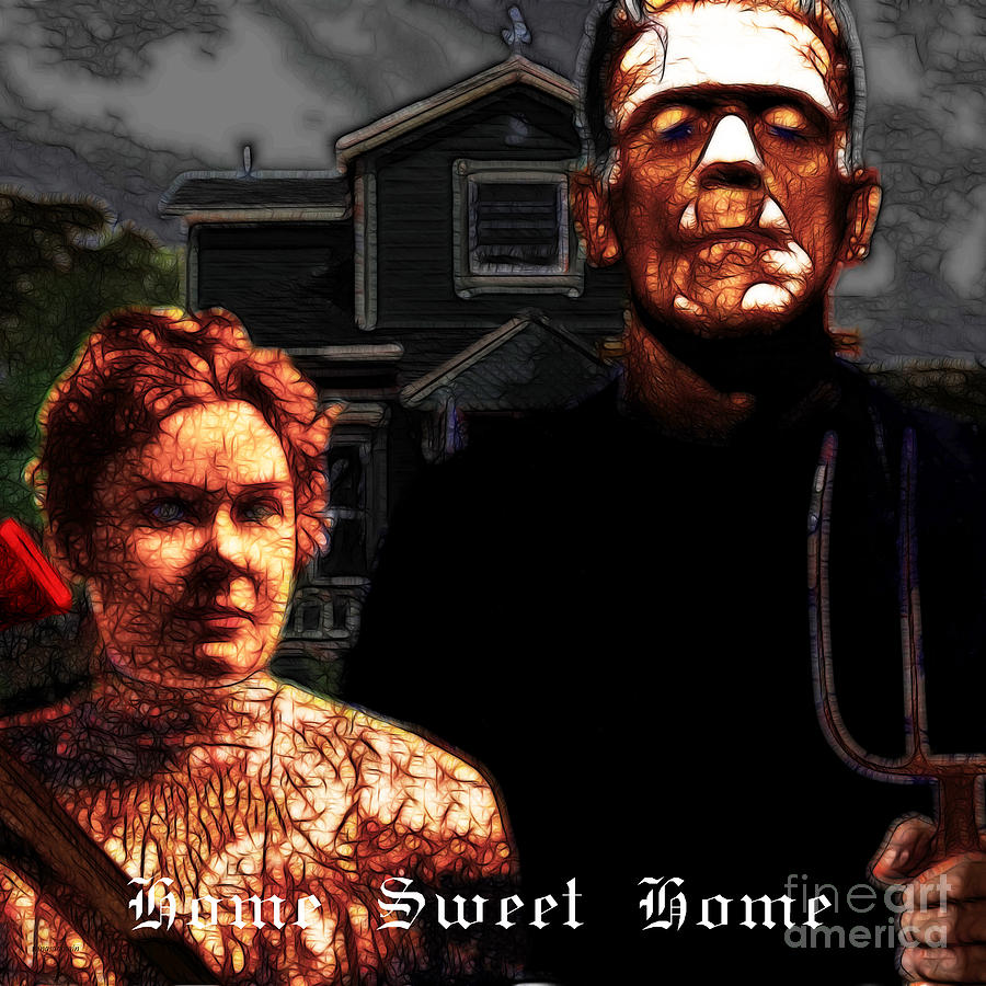 American Gothic Resurrection Home Sweet Home 20130715 Square Photograph