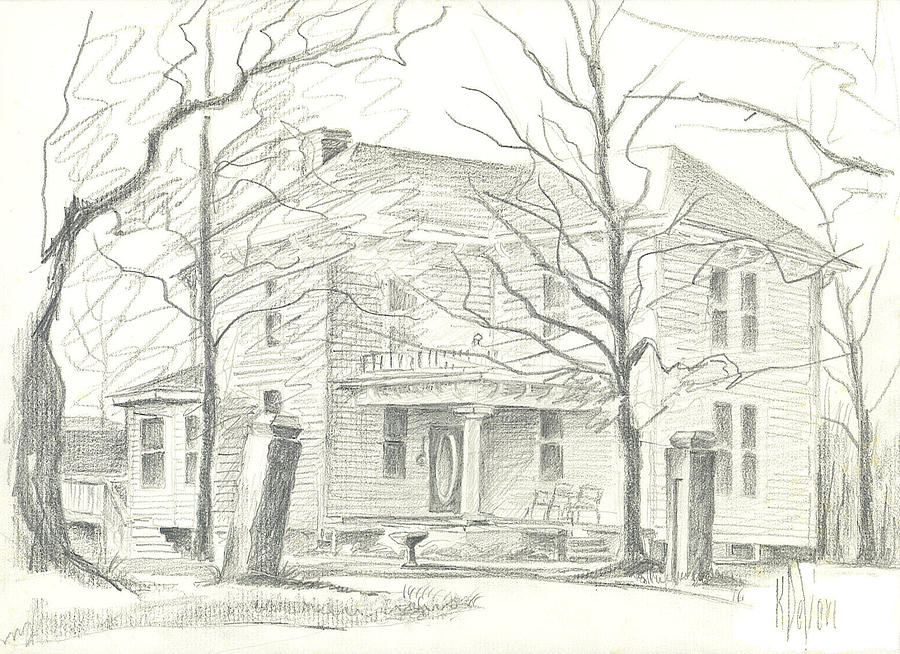 American Home II Drawing
