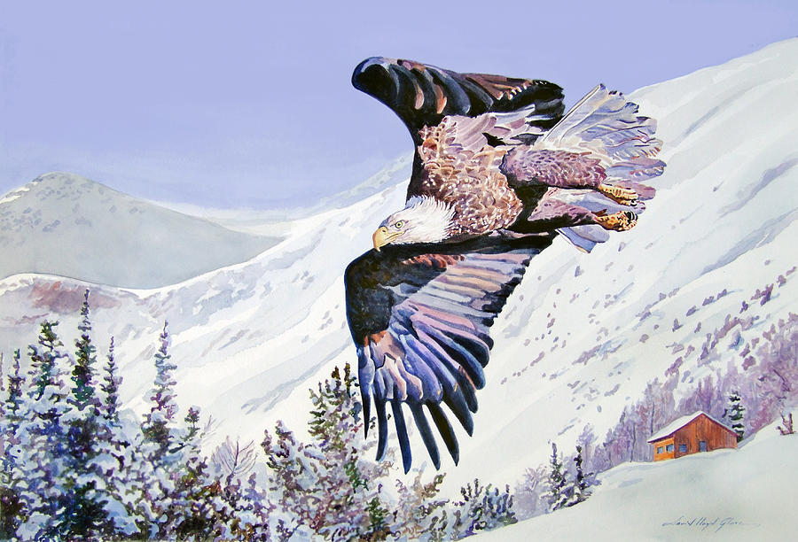Bald Eagle Painting - American Majesty  by David Lloyd Glover
