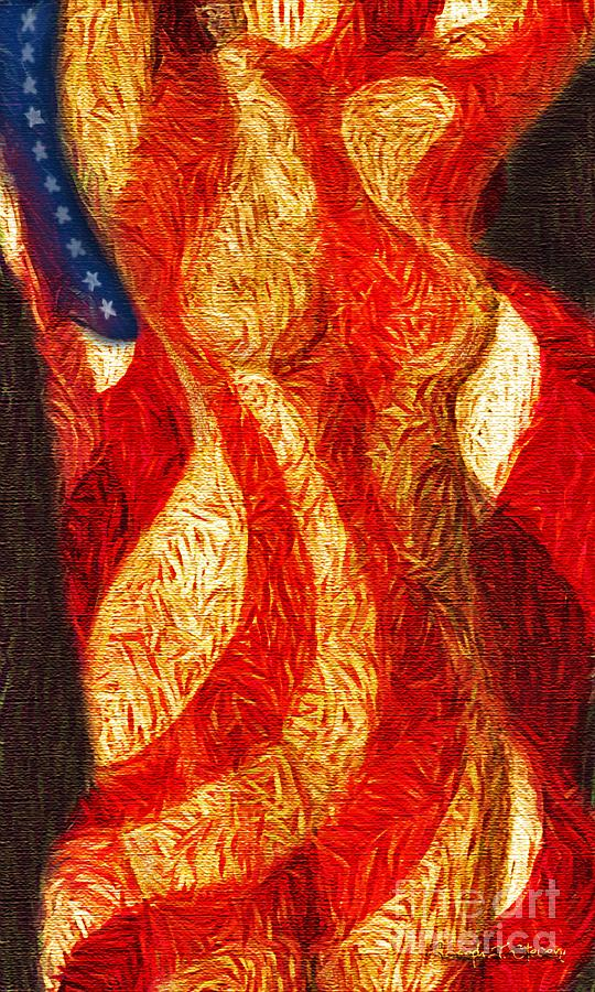 American Nude Digital Art by Joseph J Stevens
