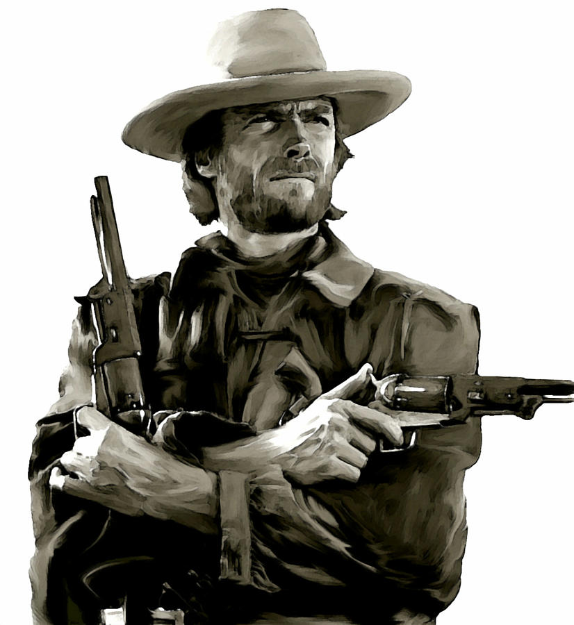 American Outlaw  Clint Eastwood Painting