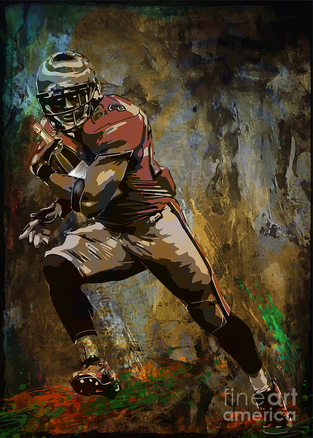 American Player....... Painting  - American Player....... Fine Art Print